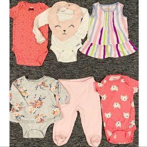 👶🏻Baby girl bundle 0-3 months 7 pc lot